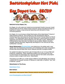 ECO DEPOT INC. JAN-30-2014
