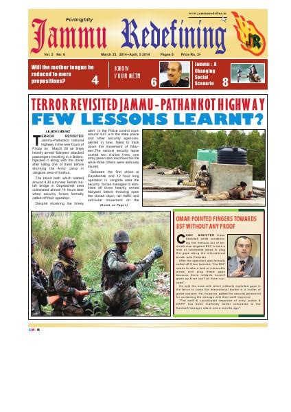 Jammu Redefining Magazine Vol. 2, No.-6