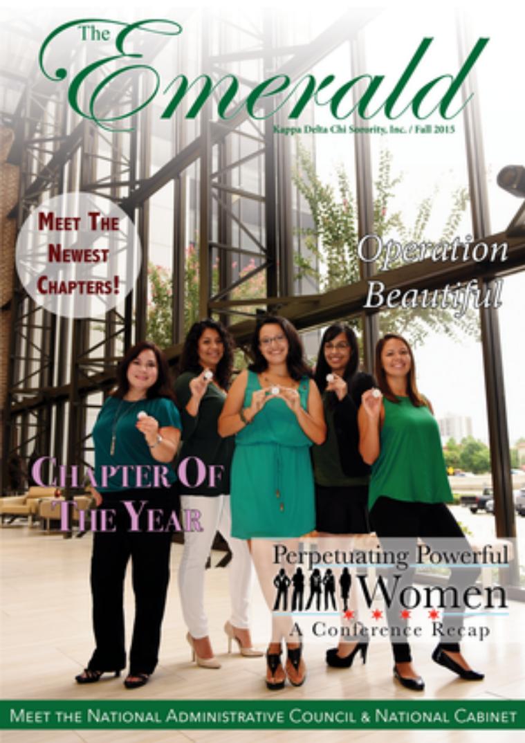 The Emerald Newsletter   Kappa Delta Chi Sorority Fall 2015