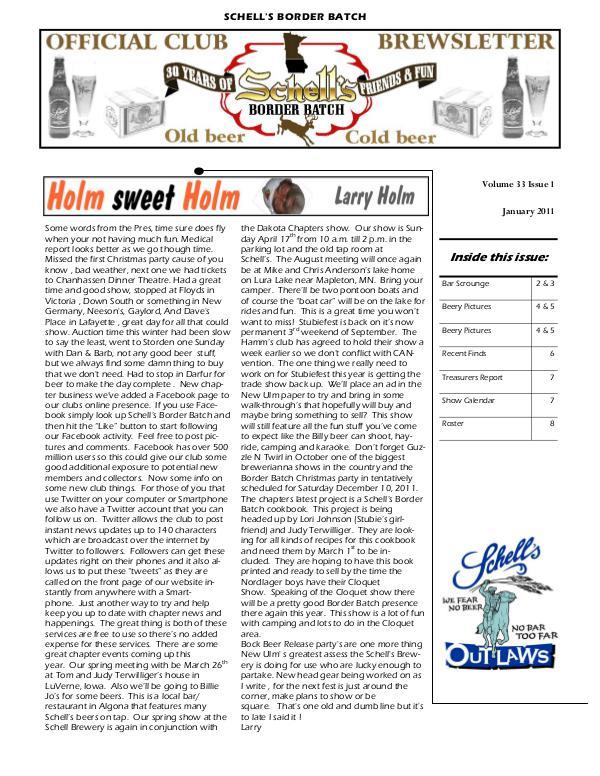 Brewings Brewings Vol 33 Issue 1