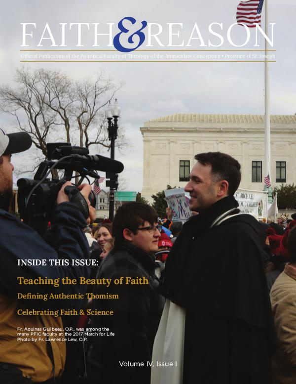 Faith & Reason Volume IV, Issue I