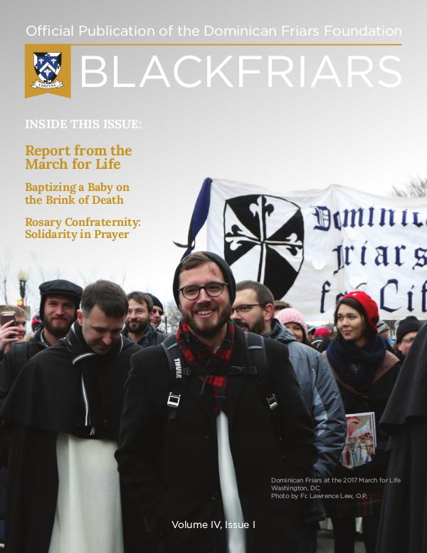 BlackFriars Volume IV, Issue I