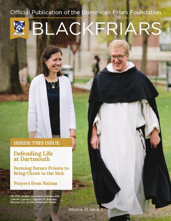 BlackFriars Volume IV, Issue II