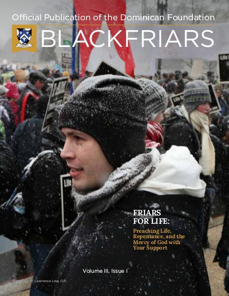 BlackFriars Volume III, Issue I